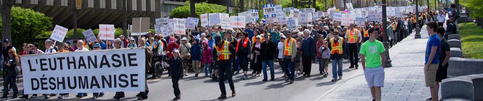 Manifestation: L'euthanasie deshumanise